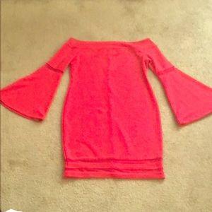 🔥Red Hot Off Shoulder Bell sleeves dress